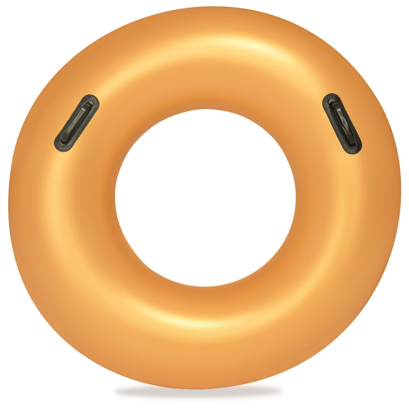 Купить Надувной круг для плавания с ручками Bestway Золото 91 см 36127,