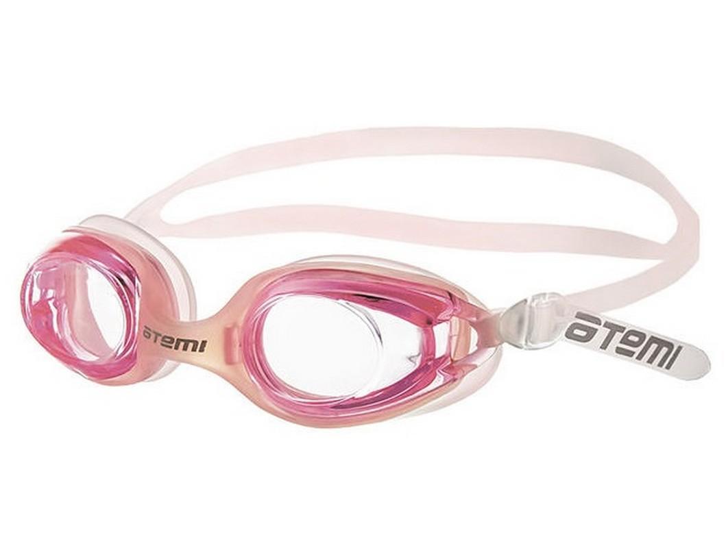 Купить Очки для плавания Atemi N7402 розовый,
