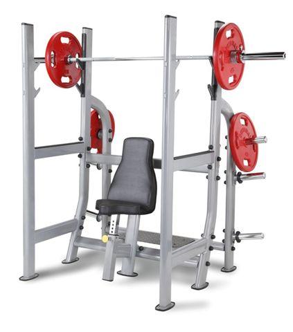 Олимпийская скамья для жима от плеч (Армейский жим) Aerofit NOMB тренажер для жима ногами aerofit clp600