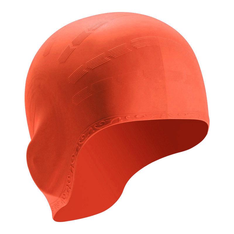 Купить Шапочка для плавания силиконовая B31514-5, оранжевый, NoBrand