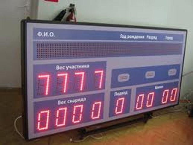 Купить Судейская система для проведения соревнований по тяжелой атлетики DHS РФП - 1151,
