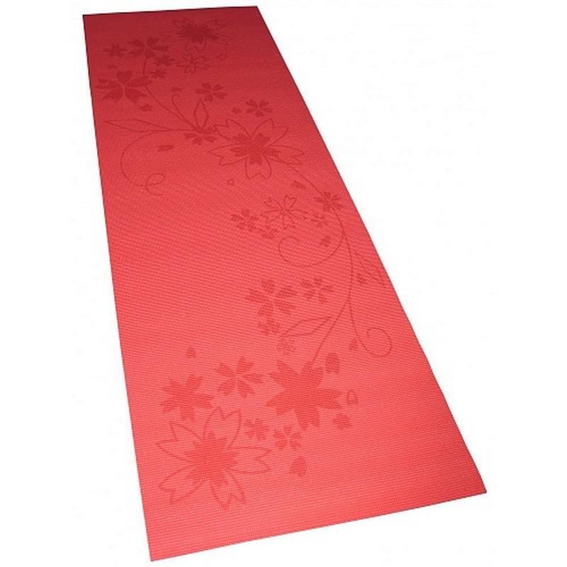 Коврик для фитнеса и йоги Alonsa FM-05  красный с принтом