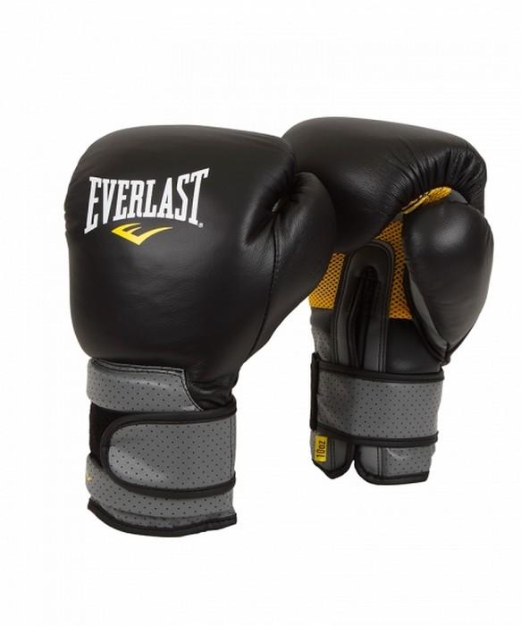 Перчатки тренировочные на липучке Everlast Pro Leather Strap