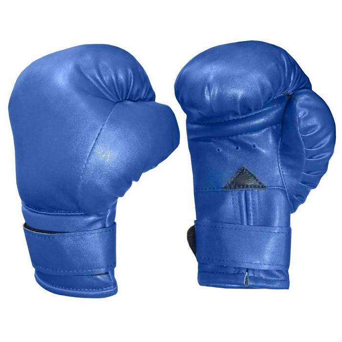 Купить Боксерские перчатки на липучке 8oz (синие) BG100-1, NoBrand