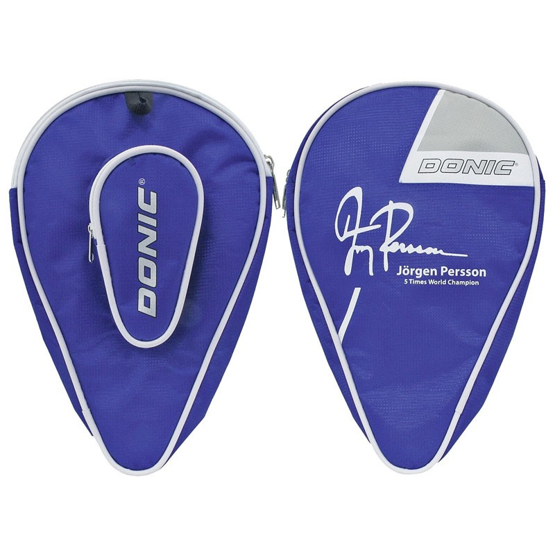 Чехол для ракетки Donic Persson полиэстер, на 2 ракетки, карман для 3 мячей, сине-белый цена