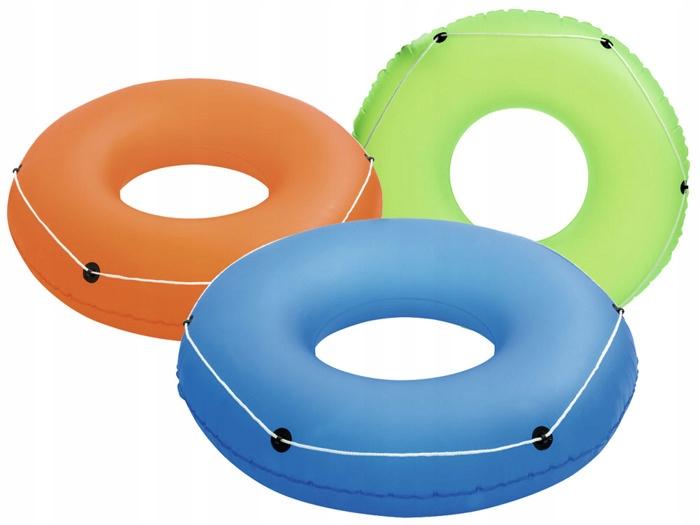 Купить Надувной круг для плавания со шнуром, 119 см, три цвета, от 12 лет Bestway 36120,