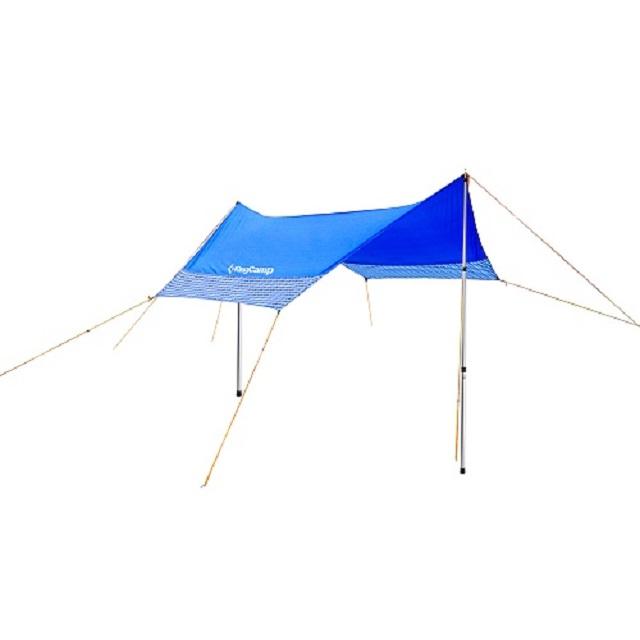 Тент со стойками голубой (400 х 400 х 230 см) King Сamp KT3013P