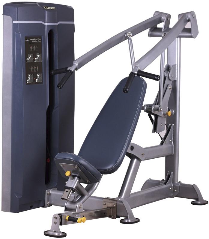 Жим от груди, жим от плеч Kraft Fitness KFWMP жим от плеч верхняя тяга spirit fitness dws103 u2