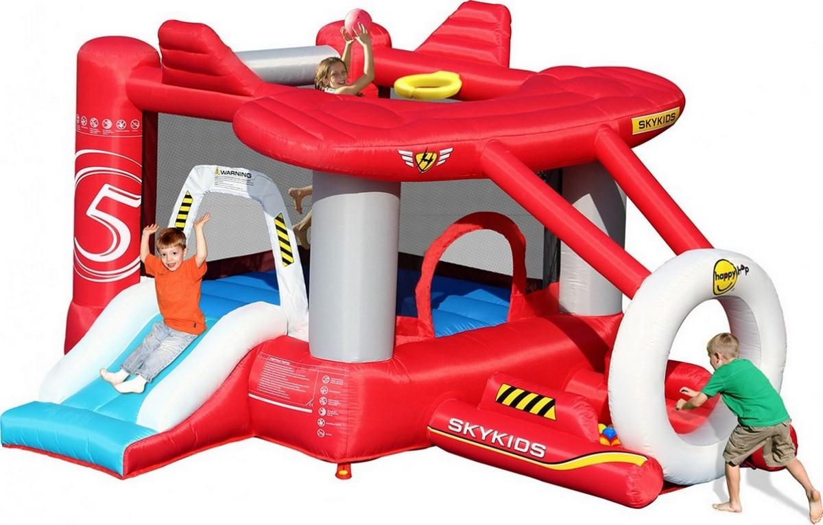 Детский надувной батут Happy Hop Самолетик 9237