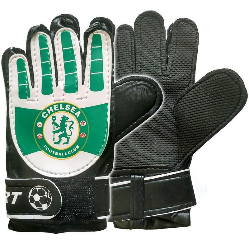 Перчатки вратарские Chelsea E29476-1 Зеленый, NoBrand  - купить со скидкой