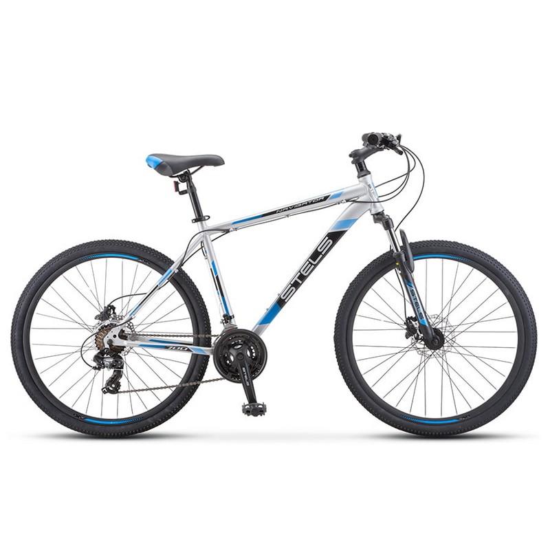 Купить Велосипед Stels Navigator 700 D F010 2020 СеребристыйСиний 27.5Ø (LU093938),