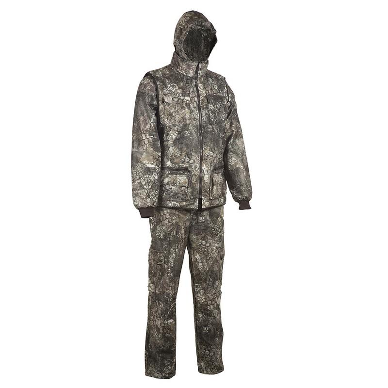 Костюм Huntsman Тайга-3 тк. Алова мужской демисезонный, калейдоскоп разгрузочный жилет спецназ или омон