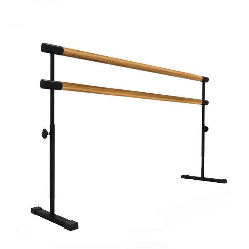 Купить Мобильный хореографический станок двухрядный регулируемый по высоте поручни из дуба 200 см Dinamika ZSO-002293,