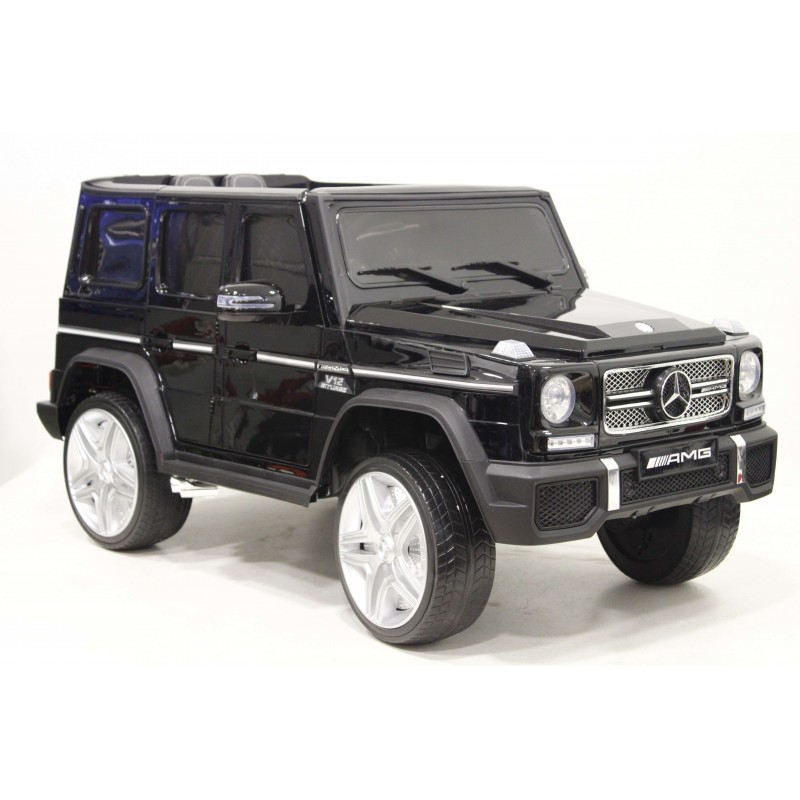 Купить Детский электромобиль River-Toys Mercedes-Benz-G65-AMG 4WD (лицензия) черный, Детские электромобили