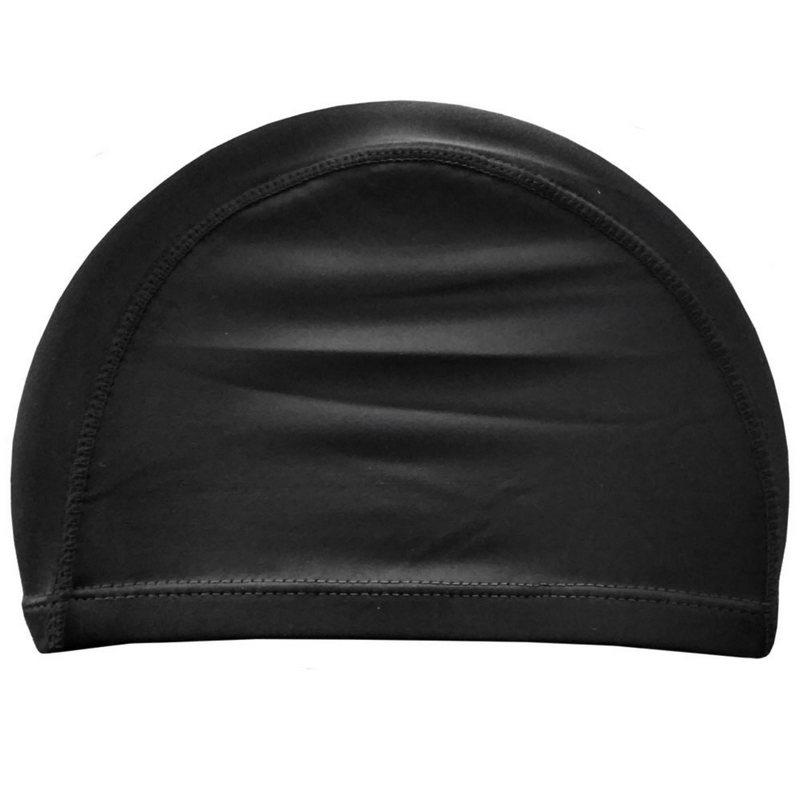 Купить Шапочка для плавания взрослая текстиль (черная) C33691, NoBrand