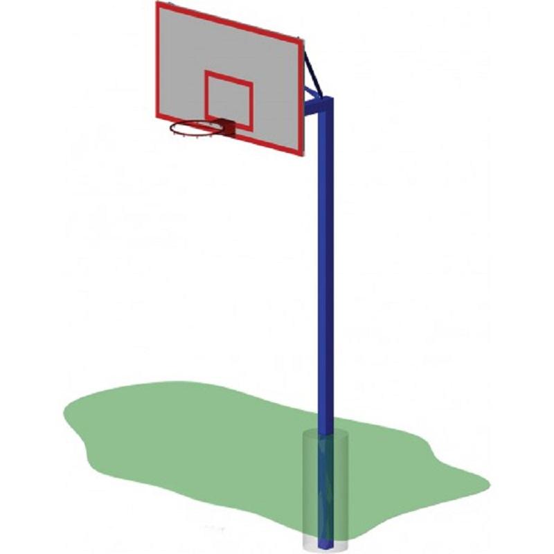 Стойка баскетбольная ZSO уличная одноопорная