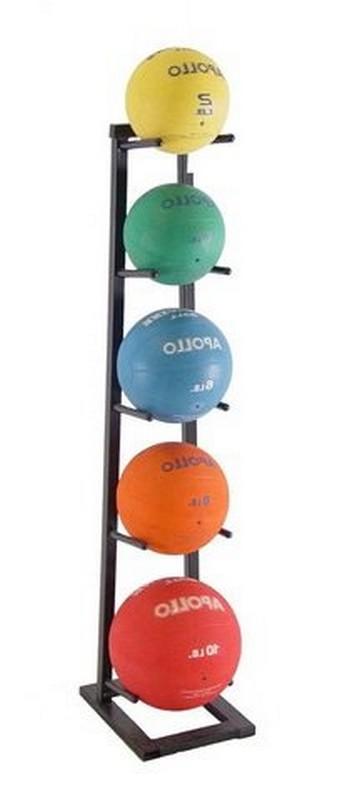 Стойка для хранения мячей ЗМК Эконом на 5 шт., односторонняя, стационарная