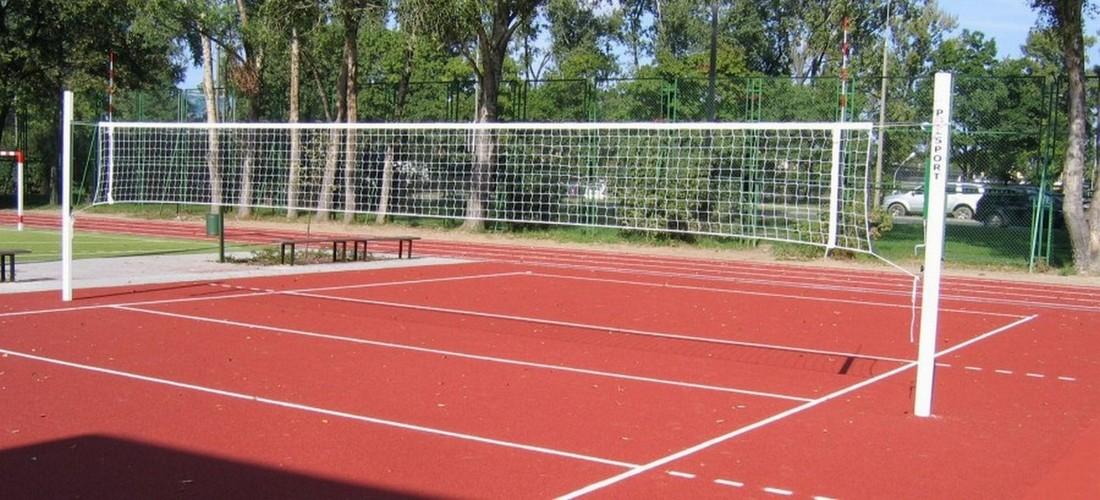 Стойки волейбольные PolSport универсальные алюминиевые с механизмом натяжения 2 шт.
