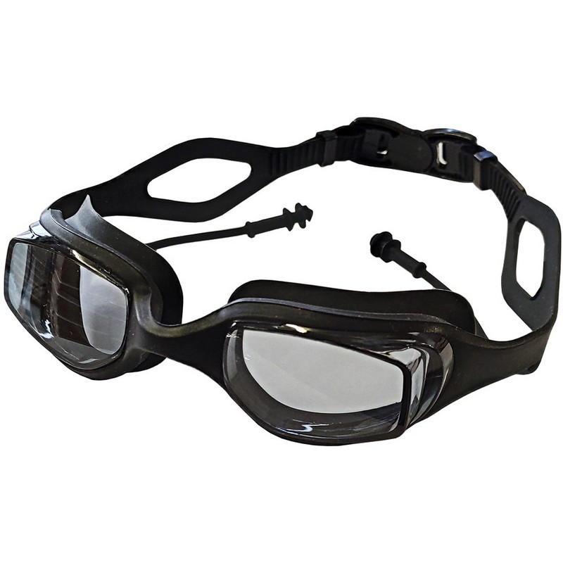 Купить Очки для плавания с берушами B31539-8 Черный, NoBrand