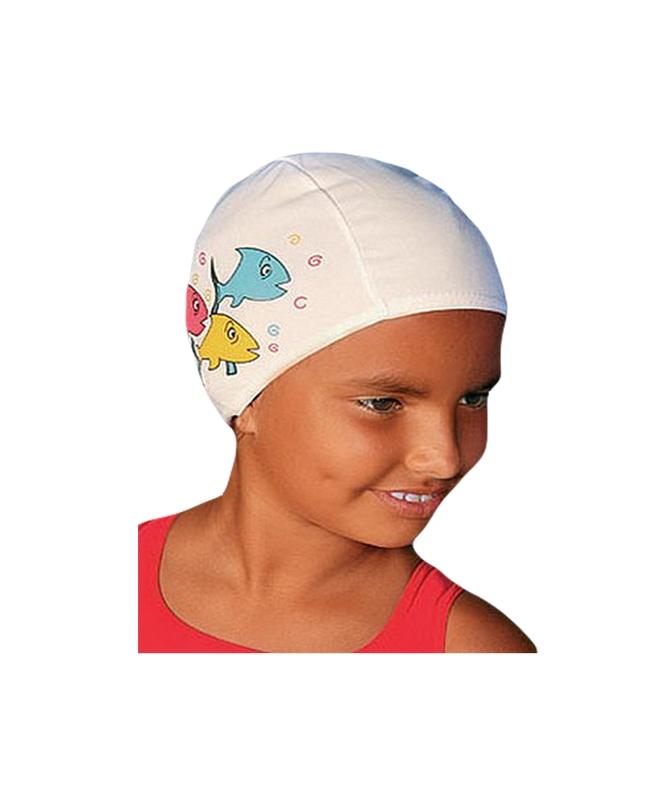 Шапочка для плавания Fashy Polyester kids Printed Cap (с рисунком) 3220-00 очки для плавания fashy kids match 4134 00 07 прозрачные линзы