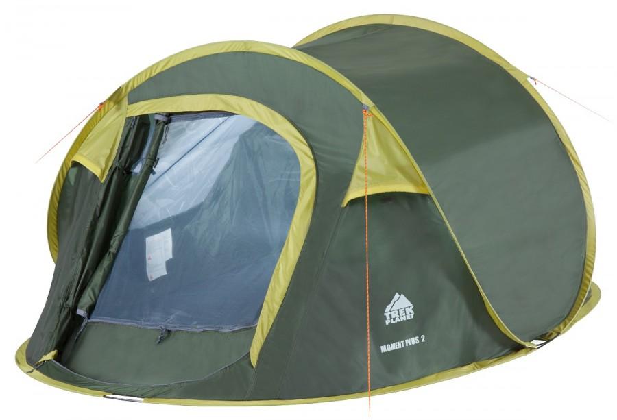 Палатка Trek Planet Moment Plus 2 т.зеленый/св.зеленый 70146