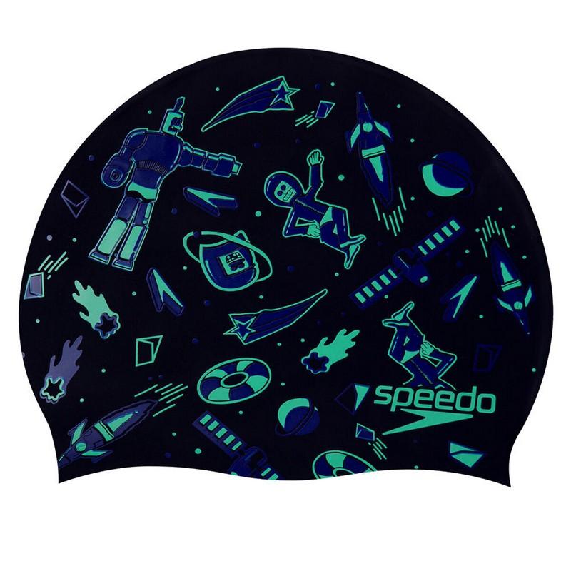Шапочка для плавания Speedo Slogan Cap Jr 8-08386F296 черный,  - купить со скидкой