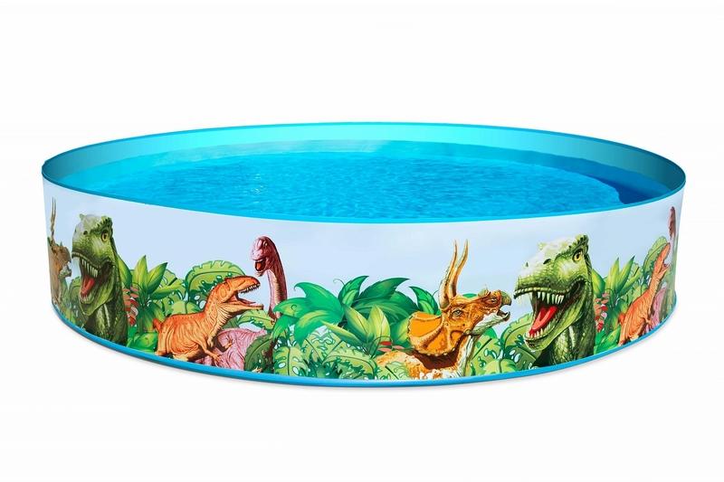 Купить Детский надувной бассейн Bestway 55001 Fill 'N Fun Dinosaur (244х46),