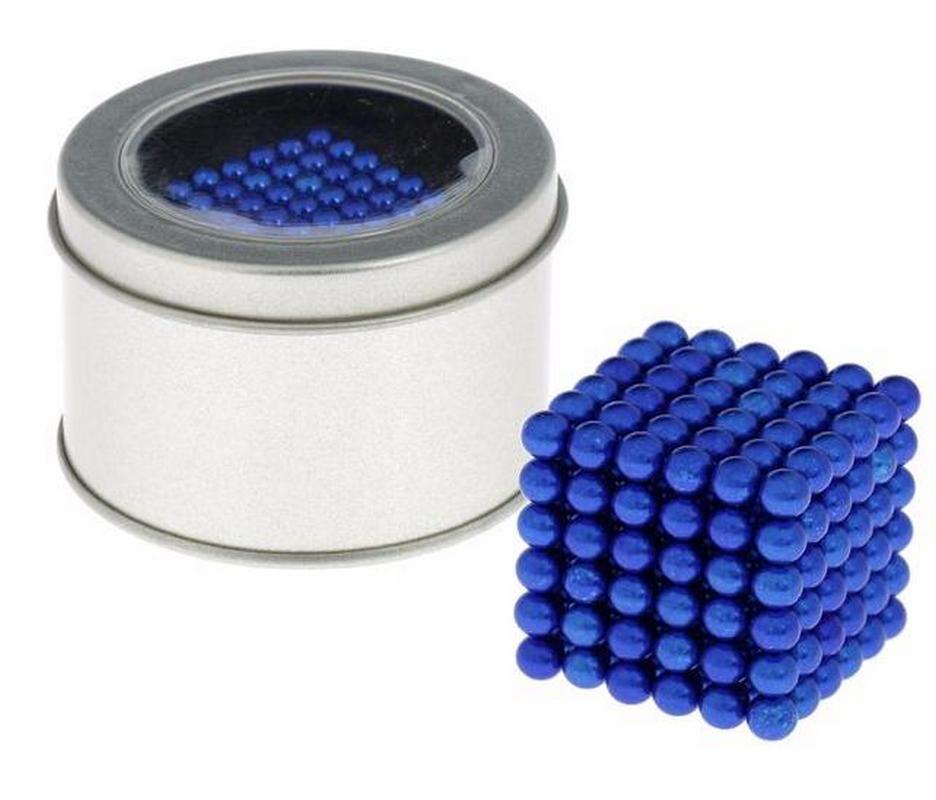 Антистресс магнит Неокуб 216 шариков d=0,5 см (синий)