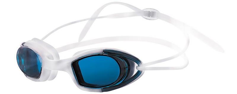 Купить Очки для плавания Atemi силикон (бел/син) N9102M,