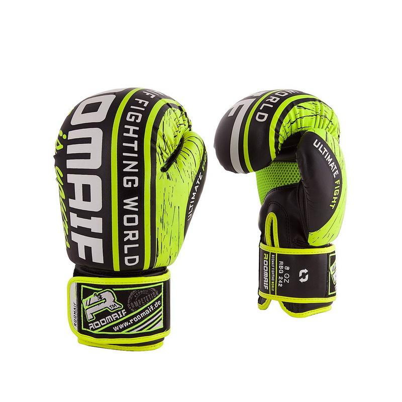 Купить Боксеркие перчатки Roomaif RBG-242 Dx Lime 10 oz,