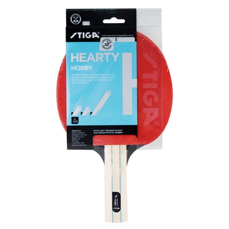 Ракетка для настольного тенниса Stiga Hearty Hobby 1210-1417-37 ракетка для настольного тенниса stiga impulse tube цвет красный