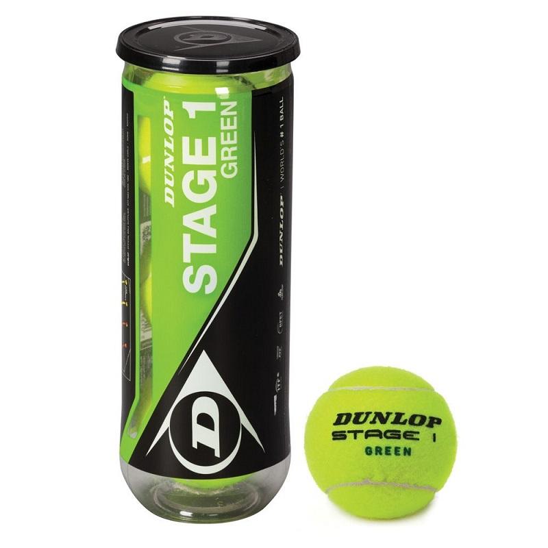 Мяч теннисный Dunlop Stage 1 (Green) 3B тренировочный для детей, 3шт. dunlop stage 3