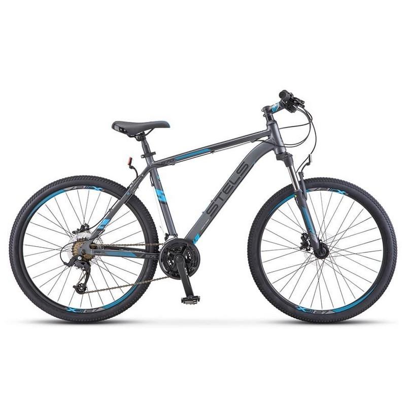 Купить Велосипед Stels Navigator 640 D V010 2019 СерыйСиний 26Ø (LU091518),