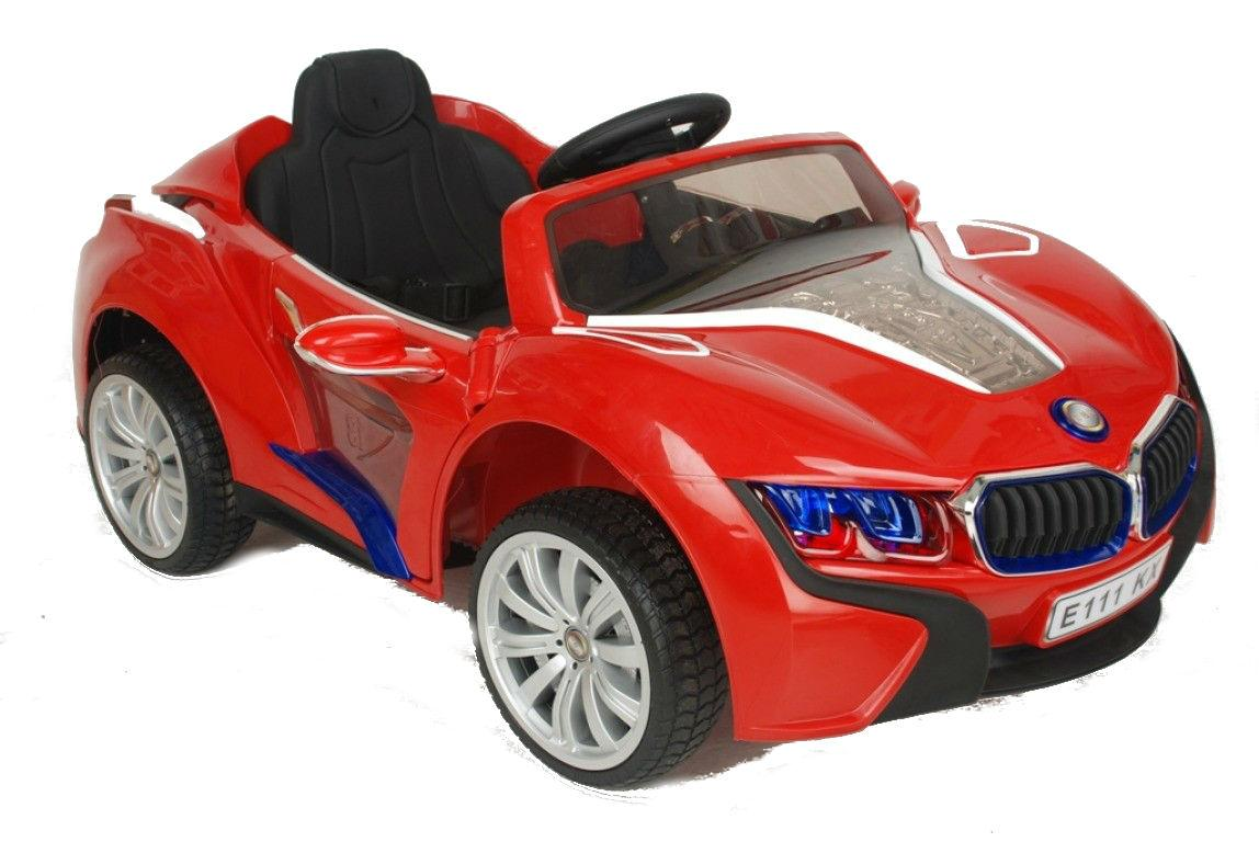 Детские электромобиль River-Toys BMW I8 E008KX Red с ДУ