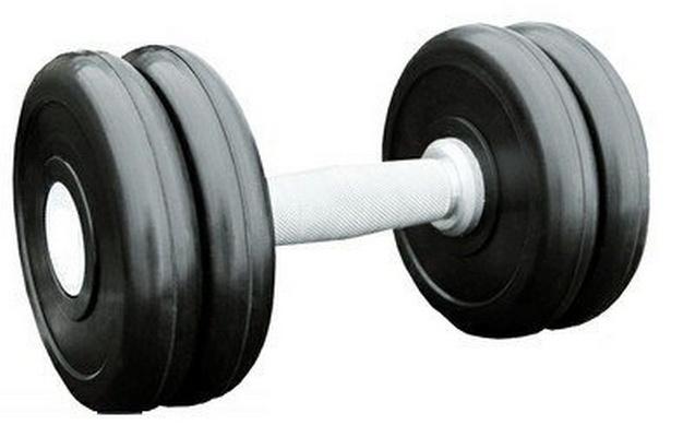 Купить Гантель профессиональная хром/резина 14 кг. Iron King IK 500-14,