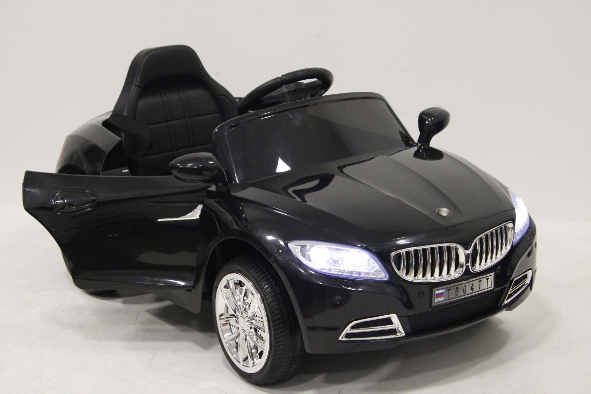 Детский электромобиль River-Toys BMW T004TT черный с ДУ
