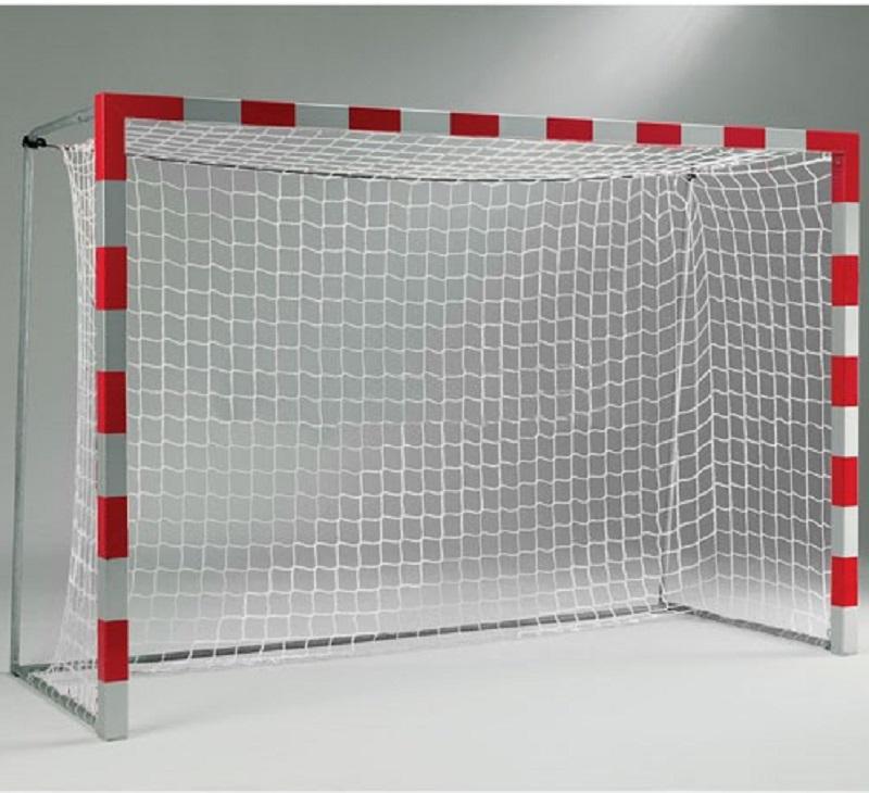 Сетка гандбол/мини-футбол ZSO Д=2.2мм, яч. 100*100, цв. белый/зеленый. Размер 2,00* 3,00*1.0м