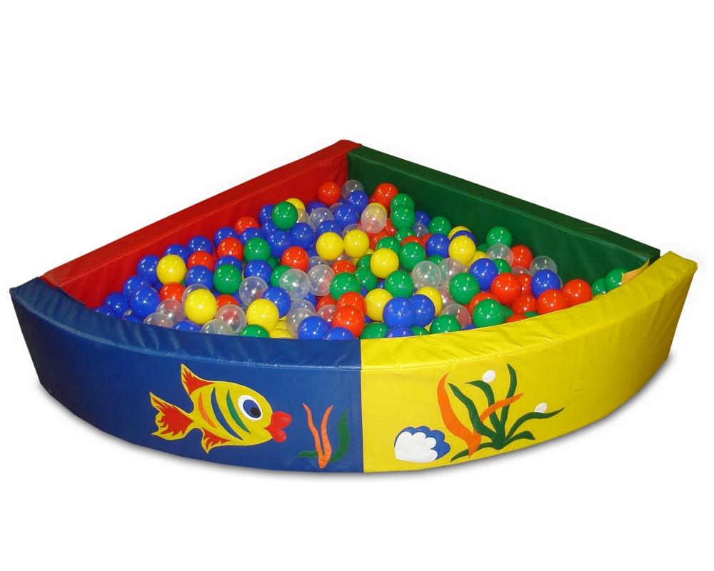 Купить Сухой бассейн разборный угловой расчитан на 500 шариков ФСИ 2465,