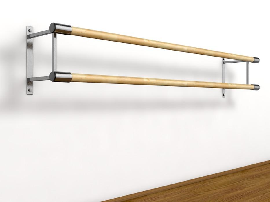 Купить Станок хореографический Atlet настенный, двурядный (2,0 м) поручень - фибергласс IMP-A444,