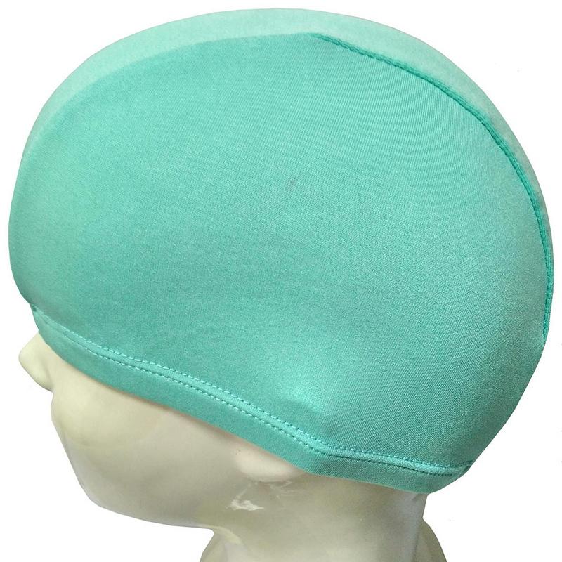 Купить Шапочка для плавания текстиль Взрослая (бирюзовая) B26291, NoBrand