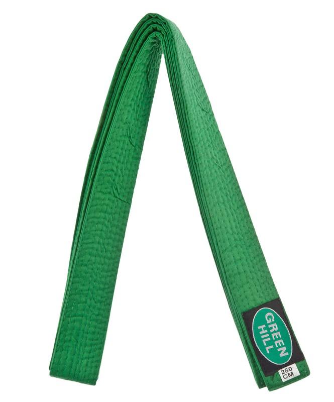 Пояс для единоборств Green Hill KBO-1014, 5/280, зеленый,  - купить со скидкой