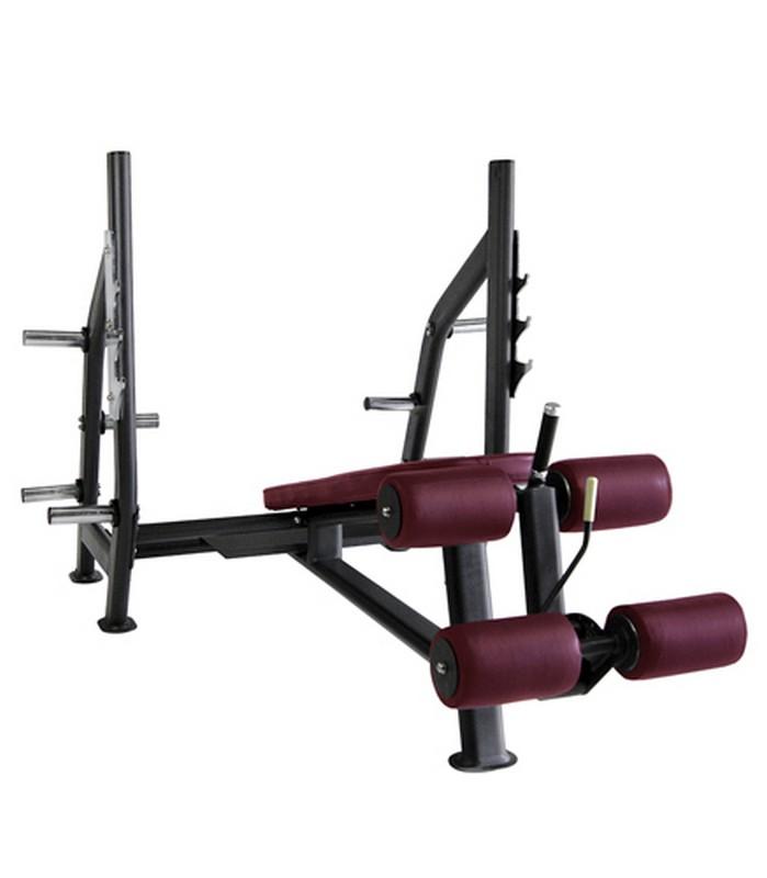 Олимпийская скамья Kraft Fitness с отрицательным наклоном KFODB скамья прямая spirit fitness afb121