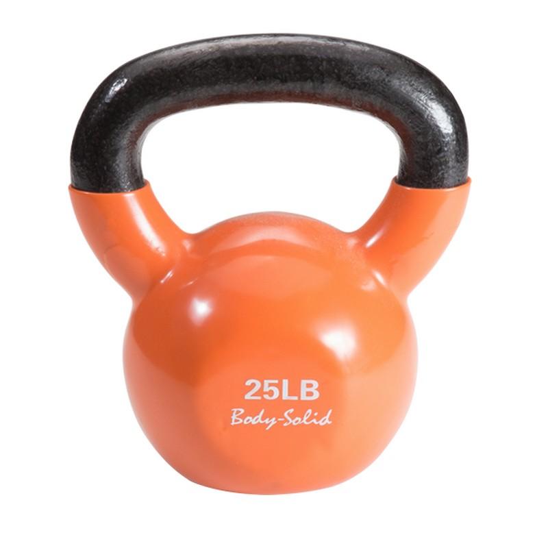 Купить Гиря обрезиненная 11,3 кг Body Solid KBV25 (KVC) оранжевый,