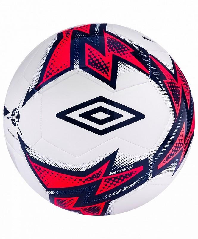 Мяч футзальный Umbro Neo Futsal Liga 20871U (FNF) бел/т.син/роз. мяч футзальный любительский р 4 umbro neo futsal liga 20871u fcy