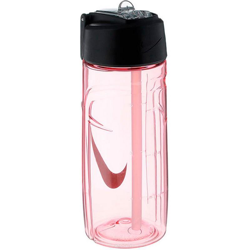 Бутылка для воды Nike T1 Flow Swoosh Water Bottle 16oz Pink/Wolf Grey 473мл бутылка для воды oem 480 16oz folding water bottle 480ml