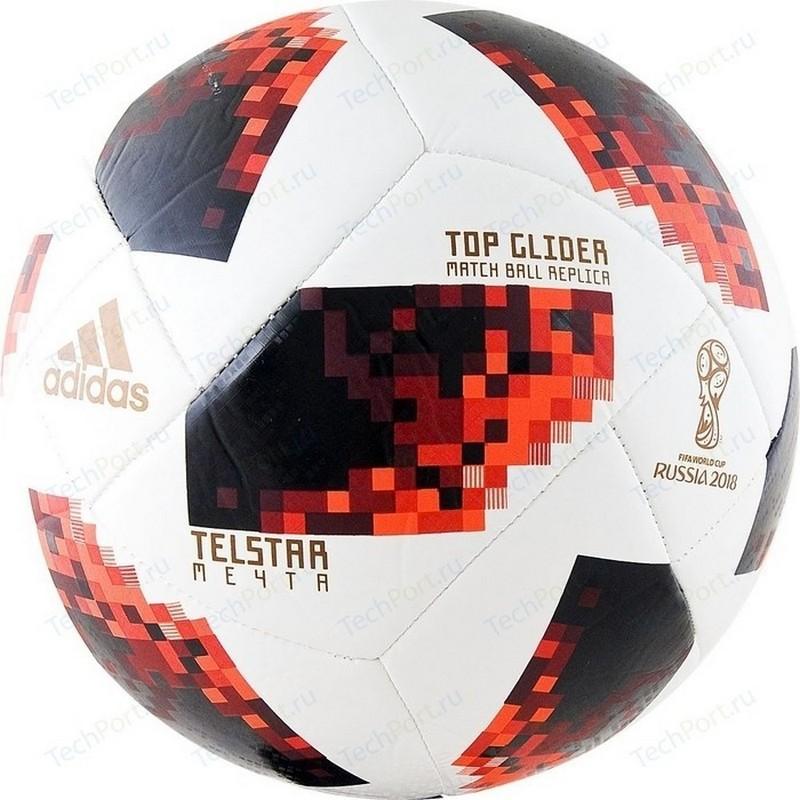 Мяч футбольный Adidas WC2018 Мечта Top Glider CW4684 (р.4) бел/крас/черн. мяч футбольный novus crystal р 4 бело сине красный