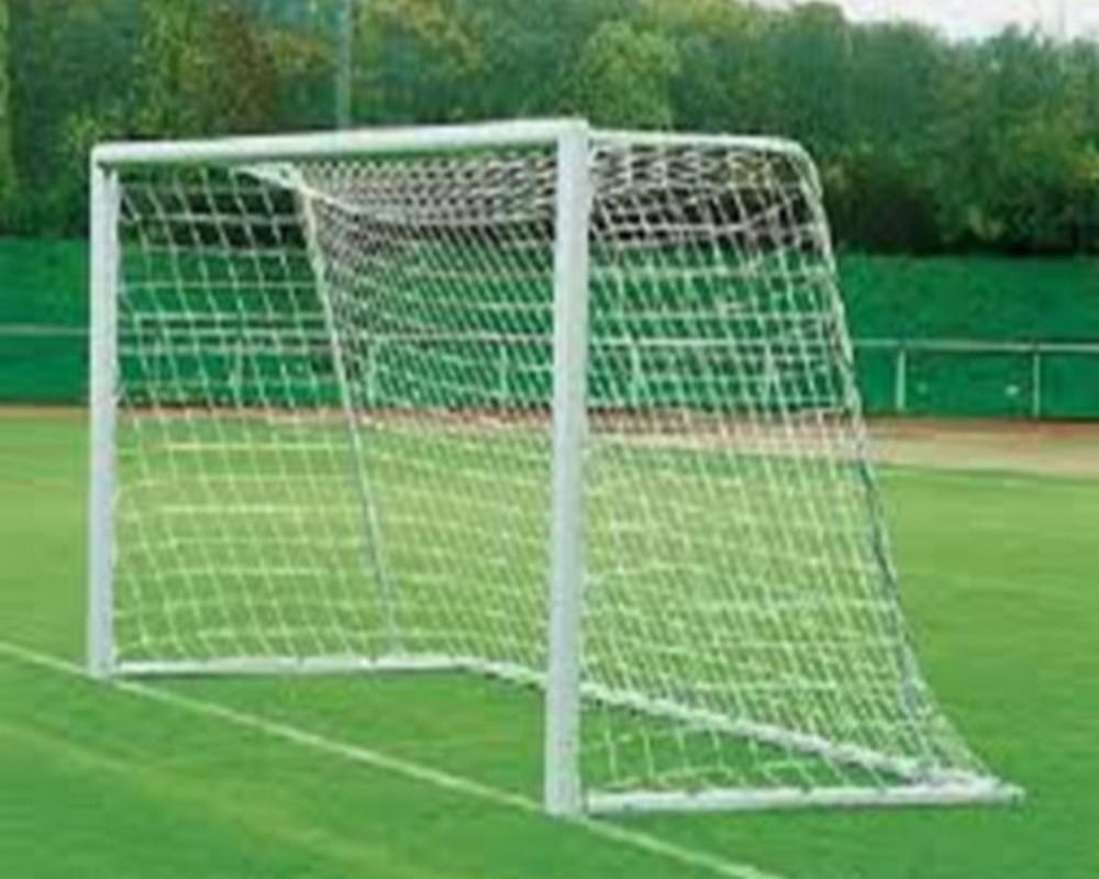 Купить Сетка для футбольных ворот нить 2,2 мм ,2x0,8х(06х06) м, ФСИ 1007-01 белый,