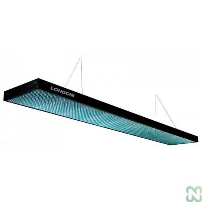 Лампа плоская светодиодная Longoni Compact (черная, бирюзовый отражатель) 75.247.10.4