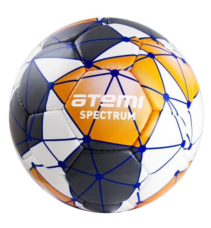 Купить Мяч футбольный Atemi Spectrum р.5 бело-серо-оранжевый,