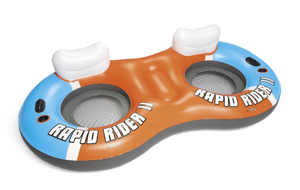 Надувной круг-кресло 251х132см Rapid Rider II для двоих, с ручками и подстакаником, до 180кг Bestway 43113